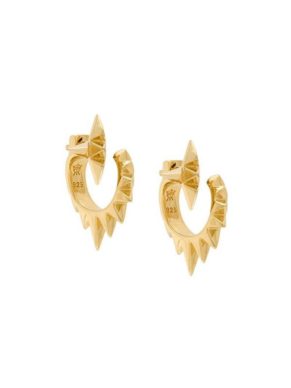 Kasun London Vortex earrings in metallic