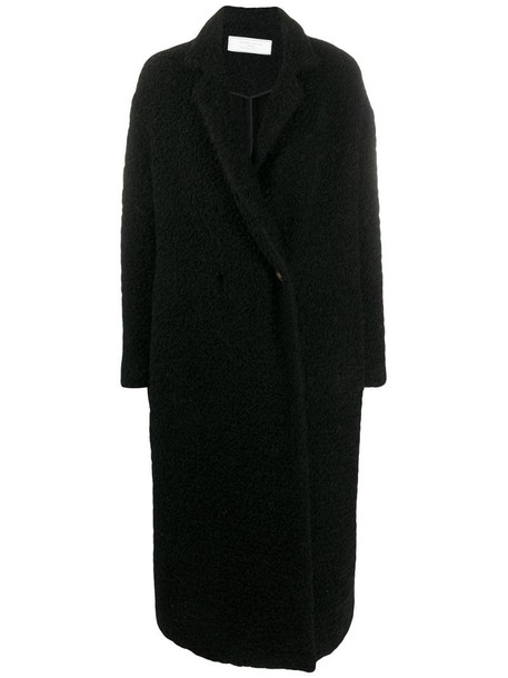 Société Anonyme textured style oversized coat in black