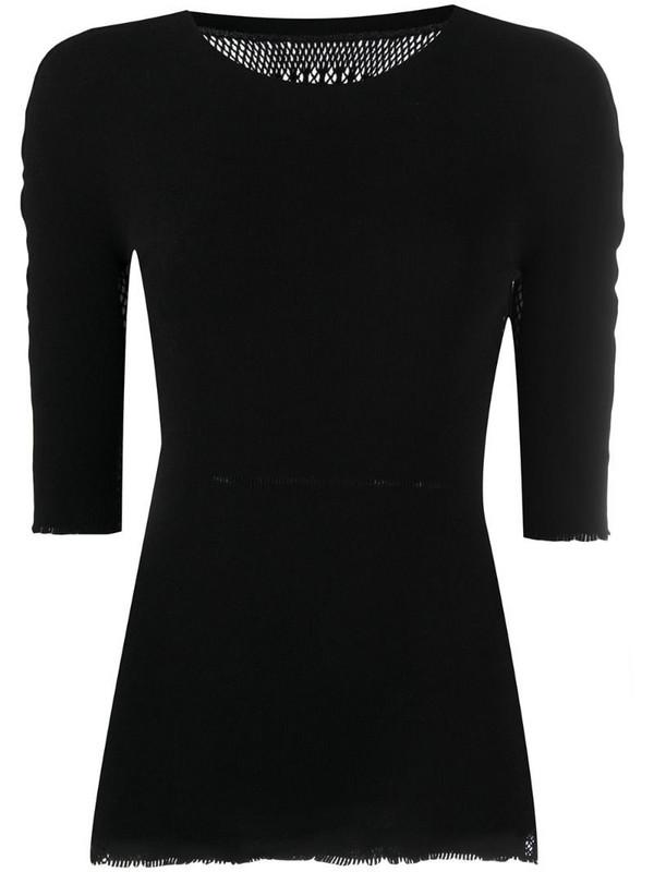 Issey Miyake stretch-jersey top in black