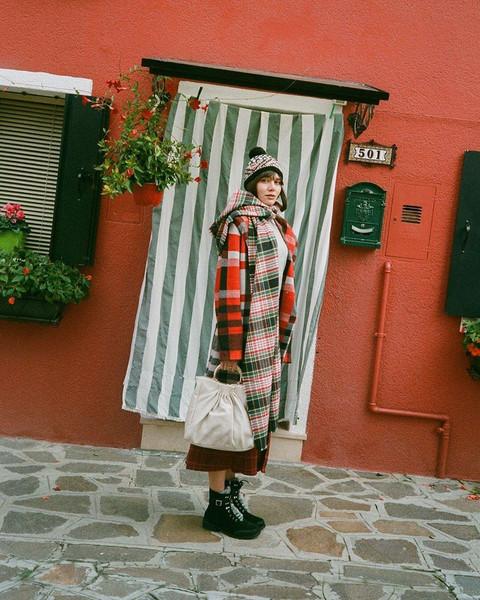 scarf coat bag