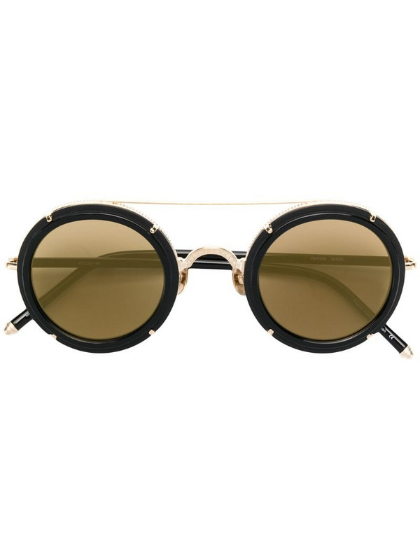 Matsuda round framed sunglasses in brown
