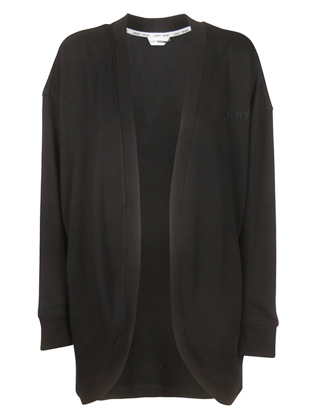 DKNY Open Front Cardigan in black