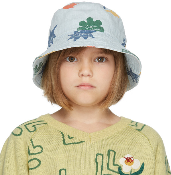 Jellymallow Kids Blue Denim Mix Bucket Hat
