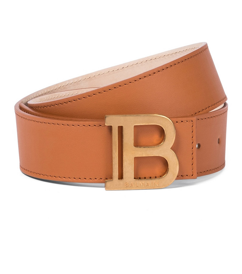 Balmain B-Belt leather belt in brown