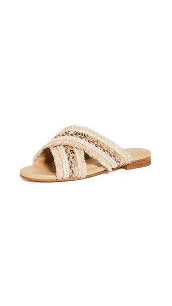 KAANAS Ibiza Crossover Sandals in sand