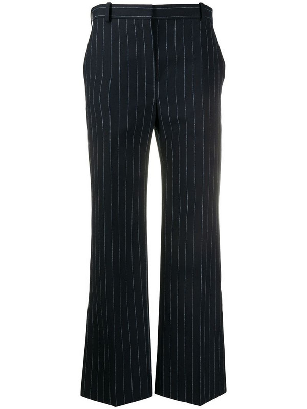 Nina Ricci flared pinstriped trousers in blue