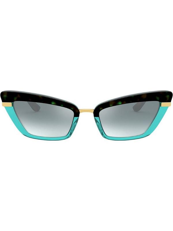 Dolce & Gabbana Eyewear two tone cat-eye sunglasses in blue