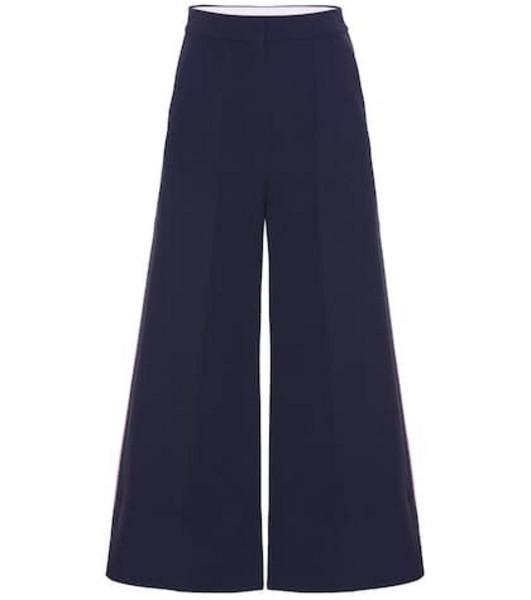 Roksanda Crêpe wide-leg pants in blue