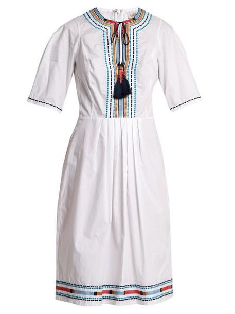Talitha - Anita Embroidered Cotton Dress - Womens - White