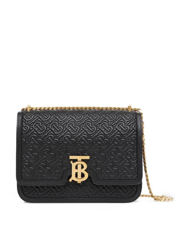 Burberry quilted monogram shoulder bag in black