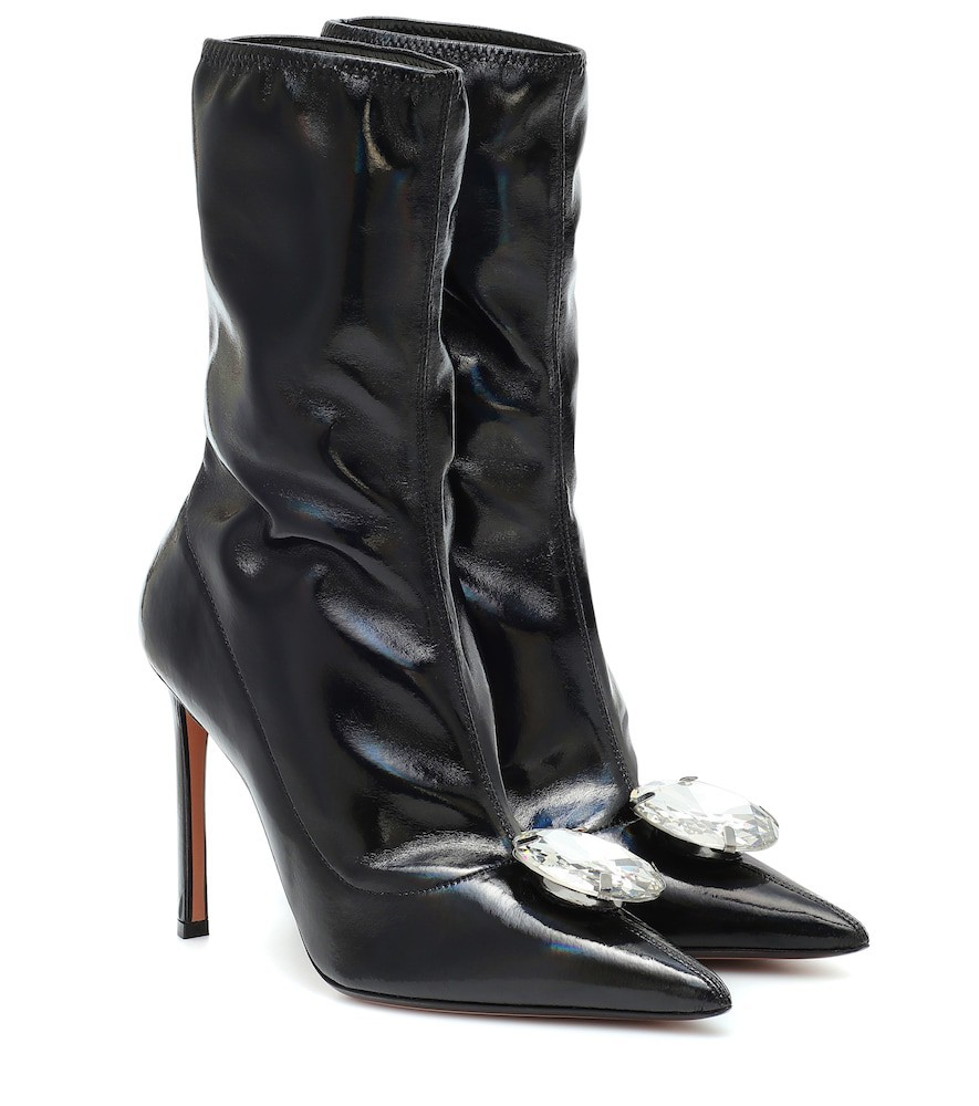 Samuele Failli Embellished ankle boots in black