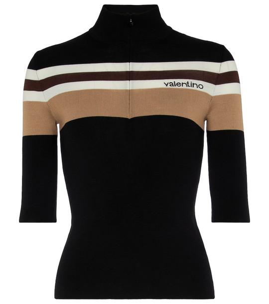 Valentino Wool jacquard turtleneck top