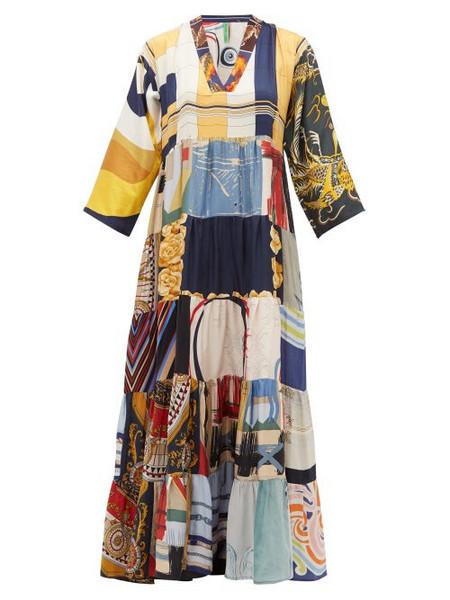 Rianna + Nina Rianna + Nina - Vintage Patchwork Silk Dress - Womens - Multi