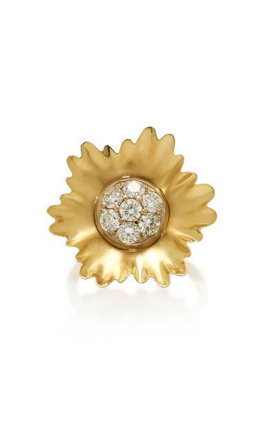 Irene Neuwirth 18K Gold And Diamond Ring Size: 7