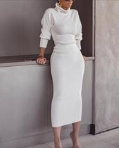 dress,long,sleeves,turtleneck