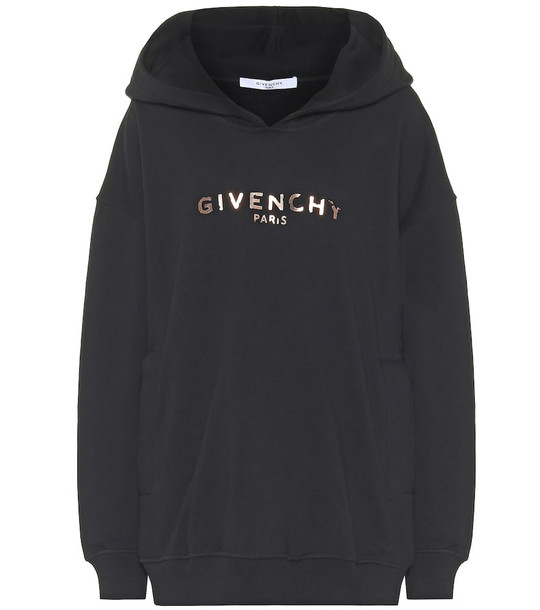 Givenchy Logo cotton hoodie in black