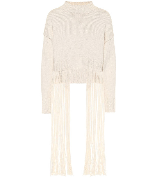 Jil Sander Cotton blend sweater in beige