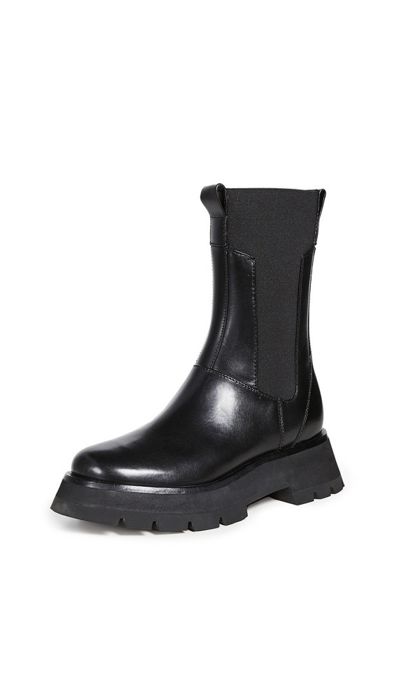 3.1 Phillip Lim Kate Lug Sole Combat Boots in black