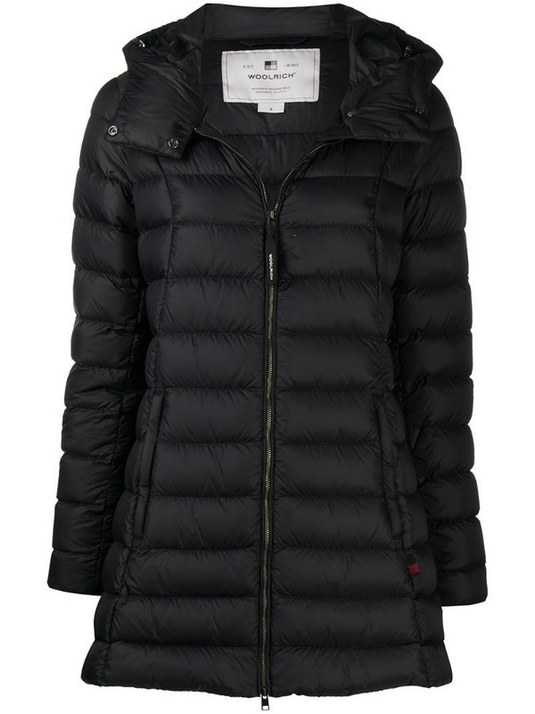 Woolrich quilted hooded parka in black
