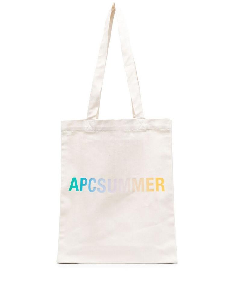A.P.C. A.P.C. logo-print tote bag - Neutrals