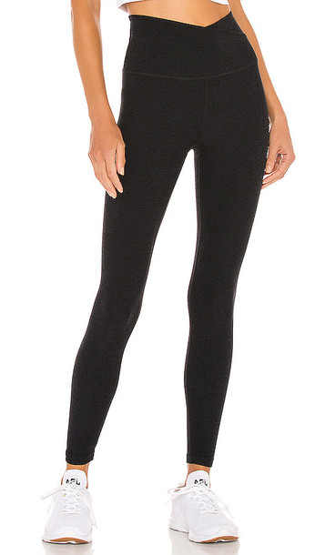 Beyond Yoga Spacedye At Your Leisure High Waisted Midi Legging in Black