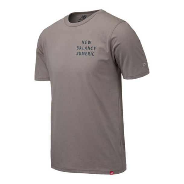 New Balance 93655 Men's NB Numeric Type Tee - Grey (MT93655WAC)