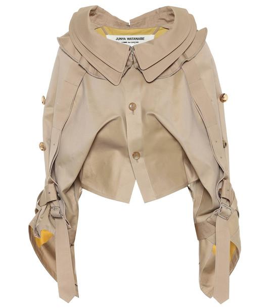 Junya Watanabe Cropped cotton jacket in beige