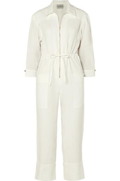 Le Kasha - Negev Linen Jumpsuit - Cream