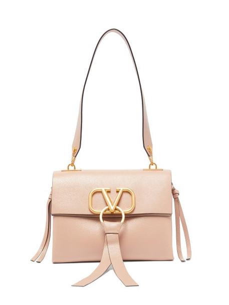 Valentino - V Ring Small Leather Shoulder Bag - Womens - Light Pink