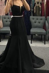 dress,black,corset back