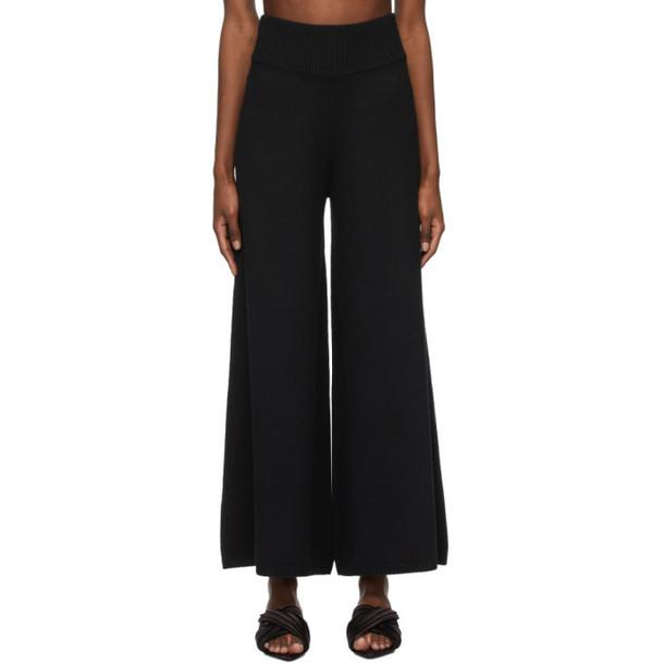 Khaite Black Cashmere The Rachelle Trousers