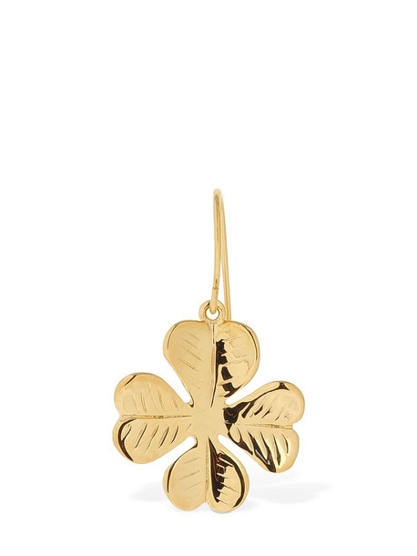 AURELIE BIDERMANN Aurélie Clover Drop Mono Earring in gold