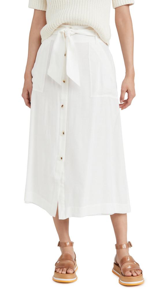 Brochu Walker Capri Skirt in white