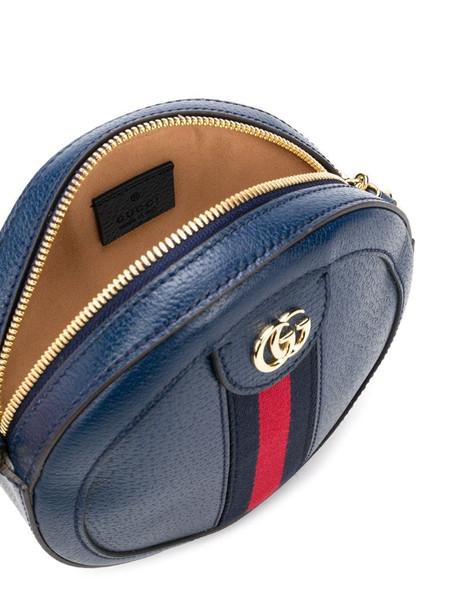Gucci Web round crossbody bag in blue