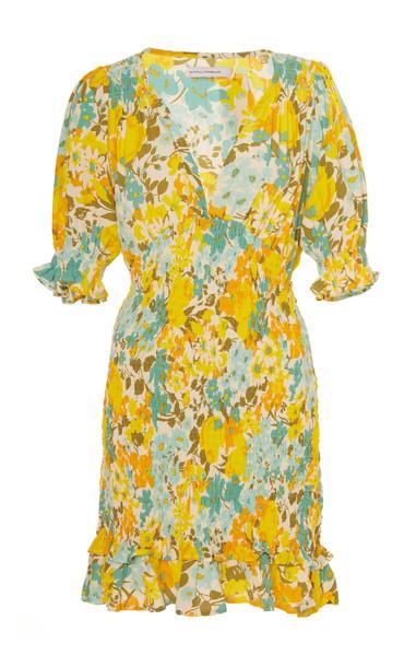 Faithfull The Brand Margherita Floral-Print Crepe Mini Dress Size: XS