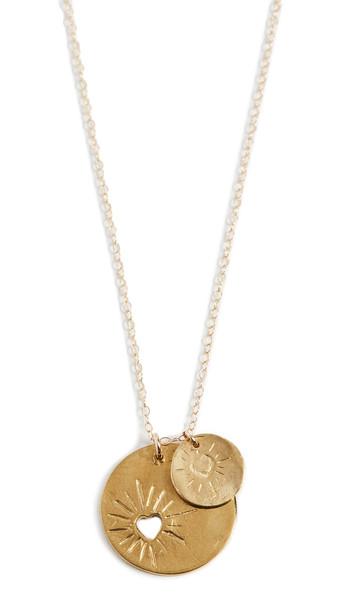 Maison Monik Double Heart Necklace in gold