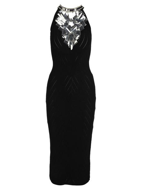 Balmain Long Dress in black