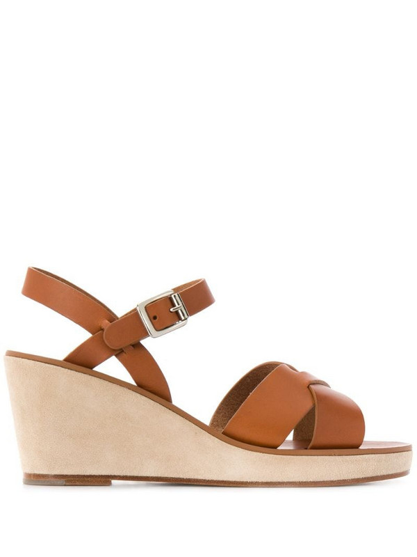 A.P.C. Judith platofrm sandals in brown