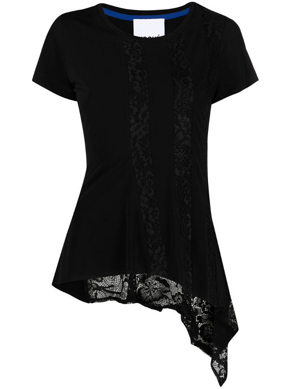 Koché lace-embroidered panel T-shirt in black