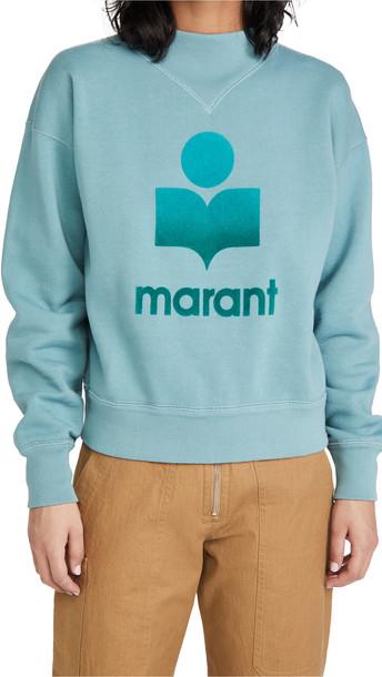 Isabel Marant Etoile Moby Sweatshirt in petrol
