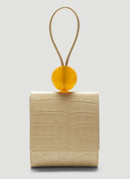 by FAR Ball Crocodile Embossed Bag in White size One Size