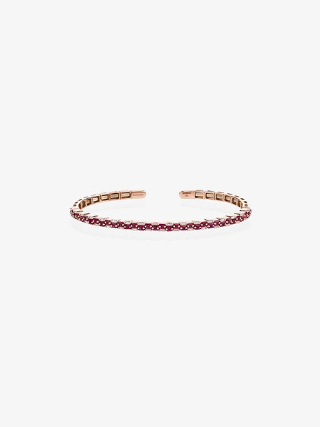Suzanne Kalan 18K rose gold and ruby baguette diamond bracelet
