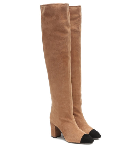 Stuart Weitzman Kimberly over-the-knee suede boots in brown