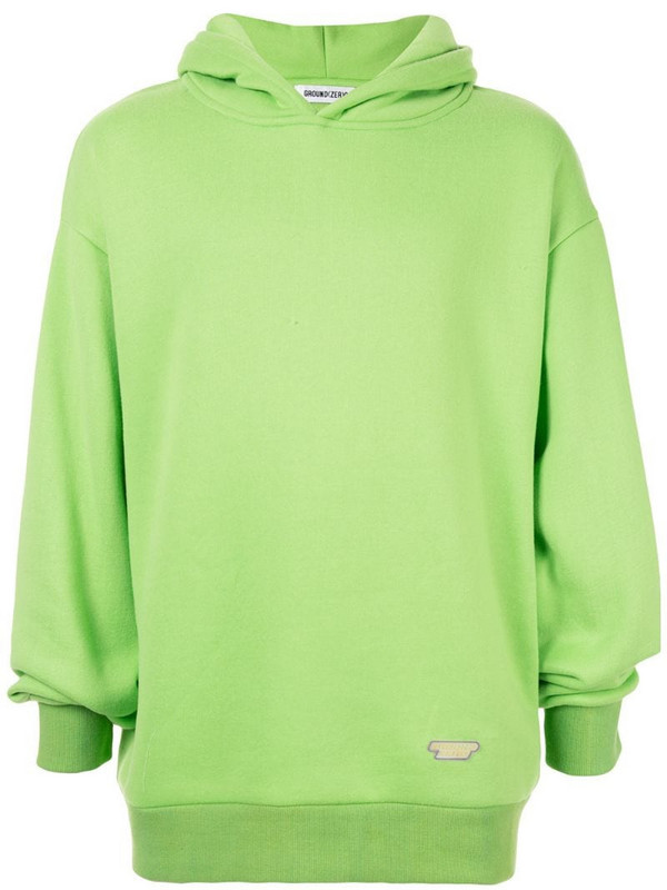 Ground Zero relaxed fit hoodie in green