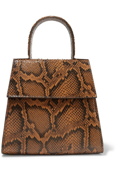 BY FAR - Monet Snake-effect Leather Tote - Snake print