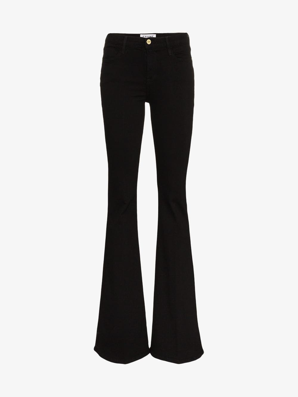 Frame Denim FRAME High-Rise Flared Jeans in black