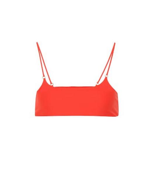 Jade Swim Hinge bikini top in red