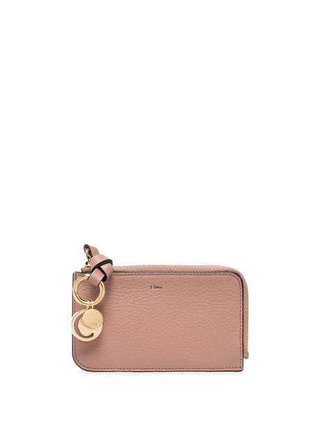 Chloé Alphabet coin purse in brown