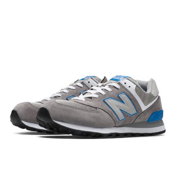Men's New Balance 574 Sneakers GreyLight BlueWhite