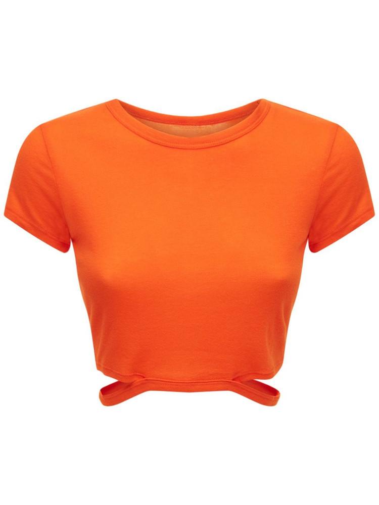 ALO YOGA Halo Cropped T-shirt in orange